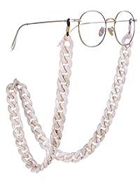 EUEAVAN - Cadena de acrílico para lentes, con textura de mármol, para mujer