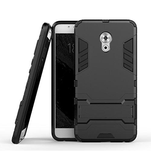 Pro 6 Hülle,EVERGREENBUYING Abnehmbare Hybrid Schein PRO 6 Tasche Ultra-dünne Schutzhülle Case Cover mit Ständer Etui für MEIZU Pro 6 Schwarz