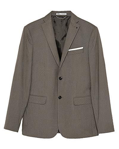 Zara Men Bird?s-Eye Suit Blazer 1564/350 (52 EU) Brown ()