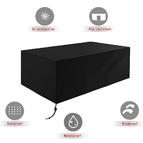 XUNUO Patio Furniture Covers, 210D Oxford fabric Waterproof Anti-UV Patio Protectors with Twelve sizes (53x53x29inch) by XUNUO