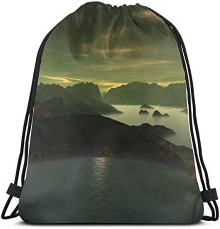 令和 スポーツバッグ 山水 収納バッグ 巾着バッグ ジムバッグ 3dプリント 可愛い 流行り ナップサックトラベルポーチ 軽量 エコ リゾート 夏バッグ ビーチ 旅行 出張 浴衣用 レディース メンズ