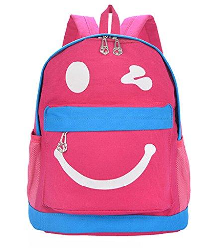 Fortunings JDS® Neue Ankunft cute smile style gelben Leinwand Rucksack Vorschulsack für Kinder pink d3Wkpw