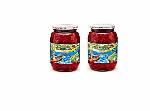 SHIPS FREE Get (2) 32 fl.oz. Jars Of Kruegermann Rotkohl Red Cabbage with Apple Jars (64 - And Apple Cabbage Red