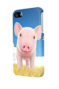 ip40421 Cute pig Glossy Case Cover For Iphone 4/4s by runtopwell