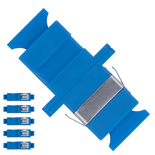 Optic Coupler Fiber Simplex - BEYONDTECH Fiber Optic SC to SC Adapter Single Mode UPC Simplex - 5 Pack Fiber Optic Extender/Fiber Couplers Series