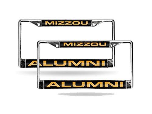 Missouri Tigers NCAA Alumni Chrome Metal (2) Laser Cut License Plate Frame Set