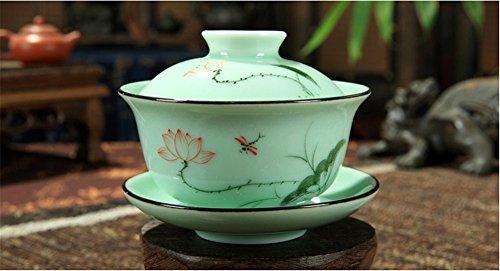 DELIFUR Celadon Handcrafted Porcelain Covered