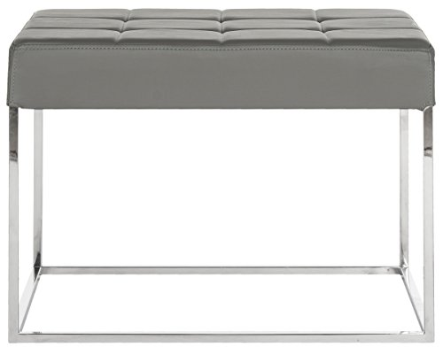 Safavieh Home Collection Roitfeld Modern Glam Grey (Barcelona Storage Ottoman)