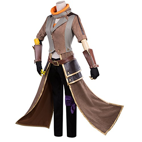 MYYH Anime Yang Xiao Long Cosplay Yellow Trailer Outfit Costume Halloween -