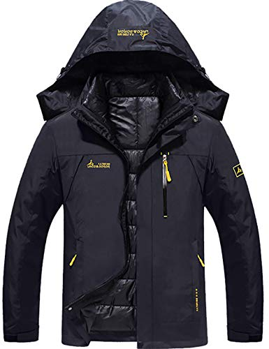 GEMYSE Men's Waterproof 3-in-1 Ski Snow Jacket Puffer Liner Insulated Winter Coat