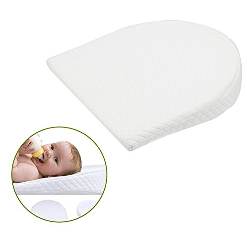 PROKTH Baby Bassinet Wedge Acid Reflux Relief Better Sleep Infant Incline Positioner Newborn Sleeping Pillow Cotton Waterproof Removable Cover by PROKTH