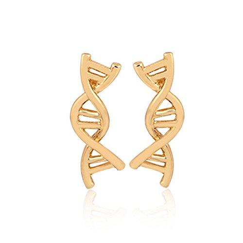Revolving DNA Stud Earrings