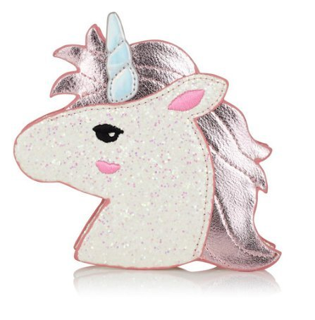 Price comparison product image Unicorn Wallet with Chain Zipper Leather Mini 3D Pink Sequins Shape Small Handbag