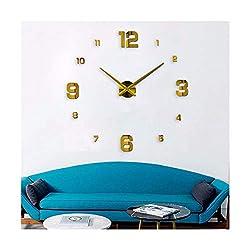 yuan kun Large Modern Design Wall Clock 3D DIY Acrylic Mirror Stickers Home Decoration Living Room Quartz Watch