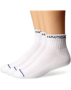 Men's 3 Pack Performance Classics Quarter Socks