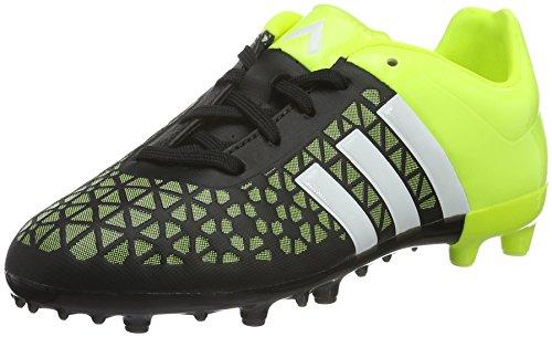 adidas ACE 15.3 FG/AG J, Jungen Fußballschuhe, Mehrfarbig (Black / Yellow / White), 33 EU (1 Kinder UK)