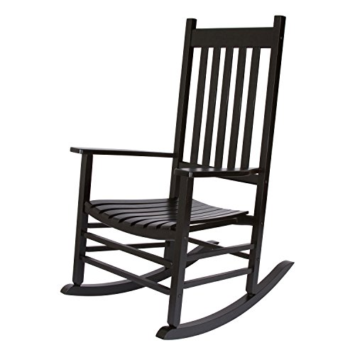 Shine Company Maine Porch Rocker, Black