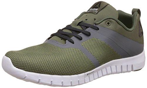 Reebok Zquick Lite 2.0, Zapatillas de Trail Running para Hombre Verde (Hunter Green / Ash Grey / Coal / Alloy / White)