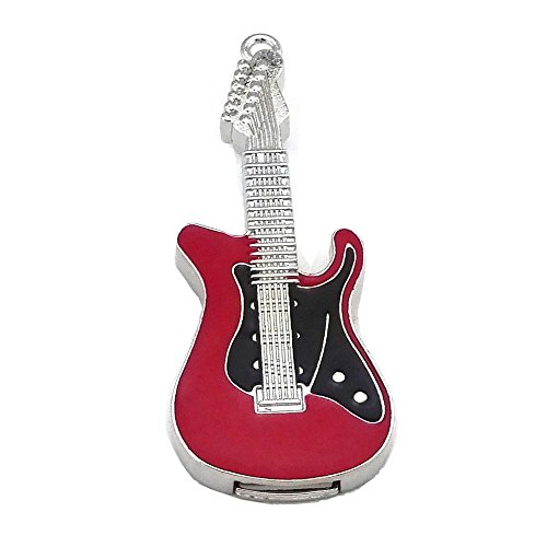 Aneew 16GB Red Pendrive Guitar Delicate Design Crystal USB Flash Drive