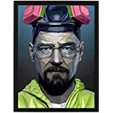 Wall picture for breaking bad series wide frame with black color