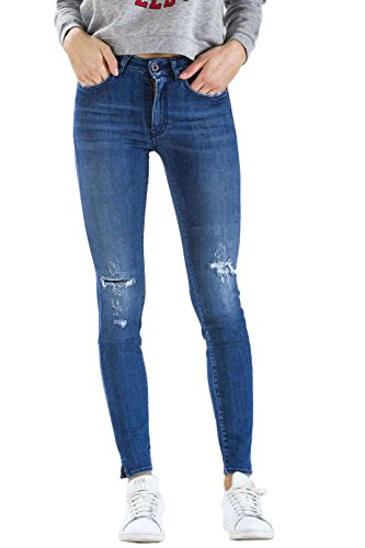 Ajuste Bolsillos Estilo Cintura Push D1724 Blue Cinco Meltin'pot Con Mirea Jeans up405 Para Alta Up Recto Denim Mujer nPqRZg8YwR