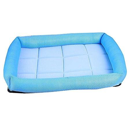 Katzen oder Puppy gepolstert komfortable K/ühlung Matte Kissen Sofa Cool Ice Silk Net Bett f/ür Hunde lulalula K/ühlung Pet Bett PET Sofa Bett