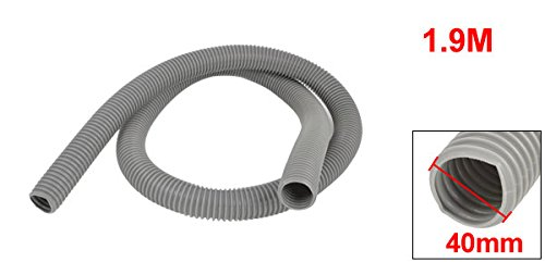 Uxcell a14050200ux0193 Vacuum Cleaner PVC Hose Tube Pipe 40mm Outer Diameter 1.9M Long