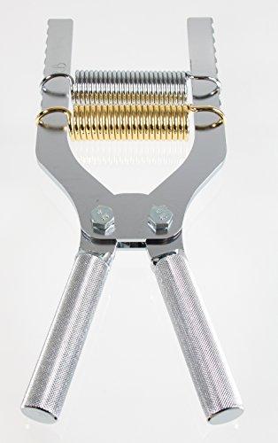 Robert Baraban Chrome Adjustable Hand Gripper 50/500lbs Resistance (500 Gripper Hand)