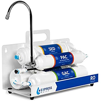 Countertop Reverse Osmosis Water Filtration System - 4 Stage RO Water Filter with Faucet - Simple Set Up Faucet Filter - Express Water