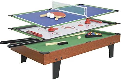 XTURNOS Mesa multijuegos 3 EN 1 de 92x51x22 cm.: Amazon.es ...