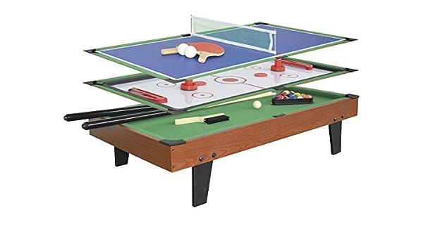 XTURNOS Mesa multijuegos 3 EN 1 de 92x51x22 cm.: Amazon.es: Juguetes y juegos