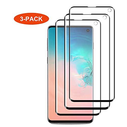 [3PACK] for Galaxy S10 Screen Protector,Qoolike HD Clear Invisible PET Screen Film[Full Coverage] Shatter Proof Scratch Resistant [Case Friendly][Bubble Free][Ultra Thin] for Samsung Galaxy S10