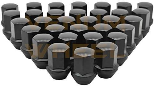 Venum ホイールアクセサリー 32個 2012-2017 Ram 2500ブラック OEM工場スタイル ブラックラグナット M14x1.5 W/ 22MM 六角クローズエンド 高さ1.5インチ 8x6.5 米国製