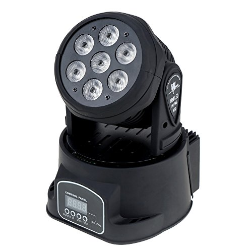 Lixada DMX-512 Mini Moving Head Light 4 In 1 RGBW LED Stage PAR Light Lighting Strobe Professional 5/13 Channel Party Disco Show 70W AC 100-240V Sound Active