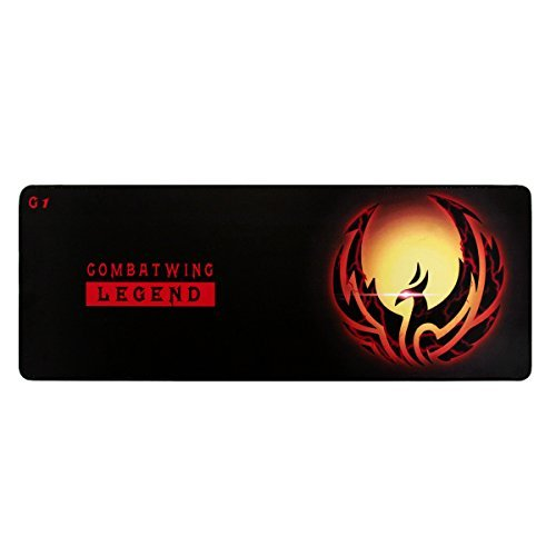 Extended Gaming Mouse Pad,Soft Gaming Mouse Pad With Stitched Edge, Water-resistant,Non-slip Rubber Base Mousepad For Laptop, Computer & PC Keyboard Mousepad Mouse Mat, 30.9 X 11.8 X 0.2 Inches, Black -
