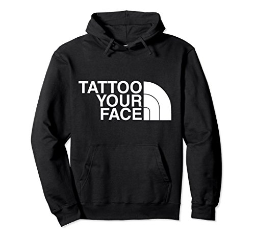 Unisex Tattoo Your Face Unisex Pullover Hoodie XL Black ()