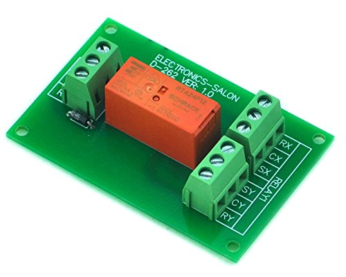 ELECTRONICS-SALON Passive Bistable/Latching DPDT 8 Amp Power Relay Module, 12V Version, -