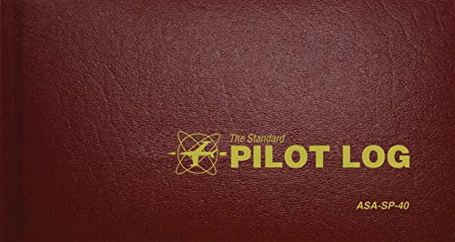 The Standard Pilot Log (Burgundy): ASA-SP-40 (Standard Pilot Logbooks) (Best Electronic Pilot Logbook)