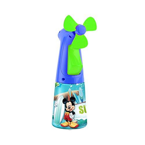 O2COOL Licensed Mickey Mouse Misting Fan, Handheld Misting Fan, Battery Operated Fan, Water Spray Fan, Mini Portable Desk Fan, Personal Cooling Fan for Outdoor, Fine Mist Sprayer
