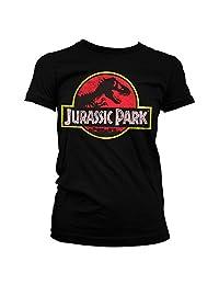 Officially Licensed Jurassic Park Distressed Logo Women T-Shirt