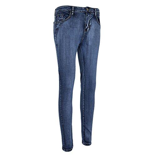 Donna D Per Dolity Blu Jeans Leggings Up Zip Dietro Skinny Denim Pantaloni Elasticizzati TZqTg