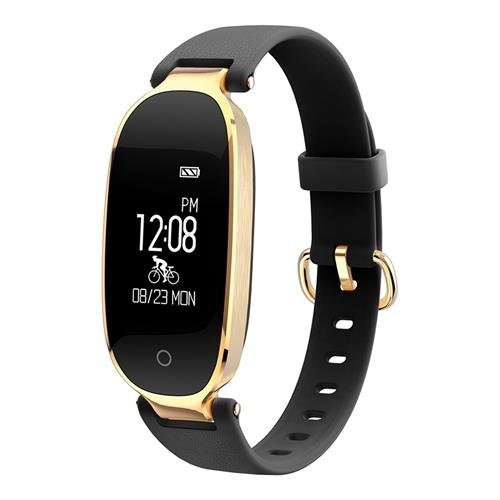 Fitness Tracker Woman Fitness Watch Waterproof with Heart Rate Monitor, Multi-sport Modes and GPS Tracking for Women - Cycling Treadmill Running (Black) -  Huiers
