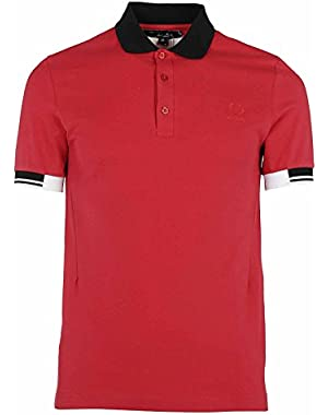 Men's SM142021956 Red Cotton Polo Shirt