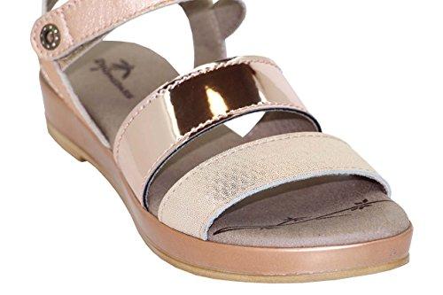Dromedary Womens Suzie Strappy Sandal Copper