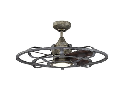 Indoor Ceiling Fans 1 Light W/Reclaimed Wood Metal/Plywood LED 26 inch 15 Watt