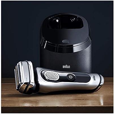 Braun Series 9 9292 Clean&Charge Afeitadora Eléctrica Hombre, Afeitadora Barba, Estación de Limpieza y Carga Clean&Charge y Funda para Viaje, Plata: Amazon.es: Salud ...