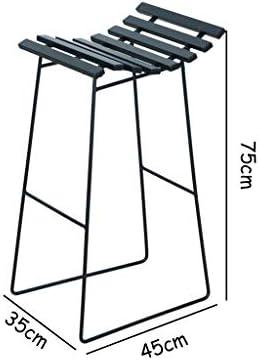 Gsej-Taburete de bar Taburetes creativos/Silla Alta Simple, Estructura metálica ecológica, Capacidad de Carga 150 kg, Adecuado para Cocina, Bar, Café, Negro, 35 x 45 x 75 cm: Amazon.es: Hogar