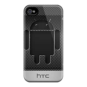 Shock-dirt Proof Carbon Android Case Cover For Iphone 4/4s