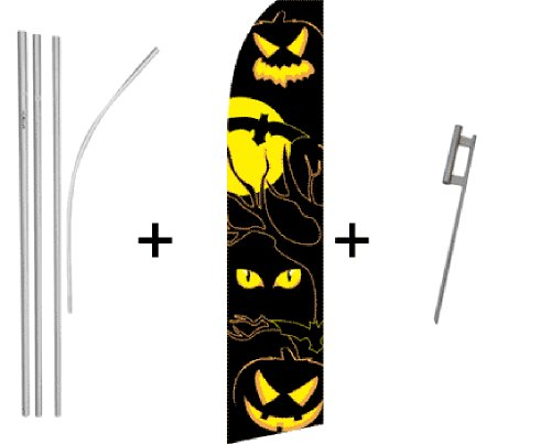Halloween Eyes Super Flag & Pole Kit -