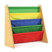 Tot Tutors Estante para almacenamiento de estantes para libros infantiles, Natural /Primario (Colección principal)